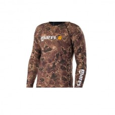 Mares top rash guard camo brown